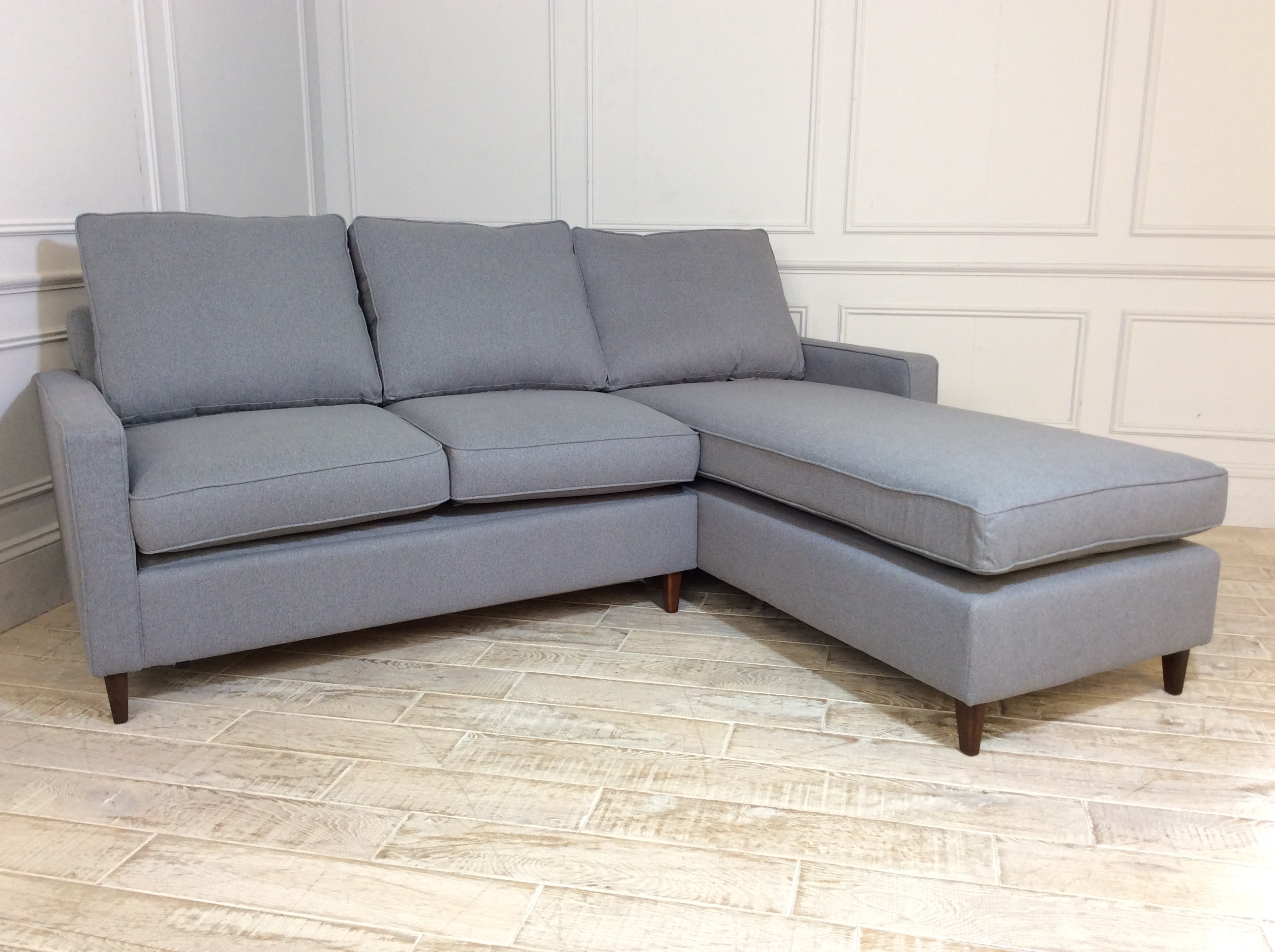 Beckenham 2 Seater Chaise Sofa Bed in Wolf Grey