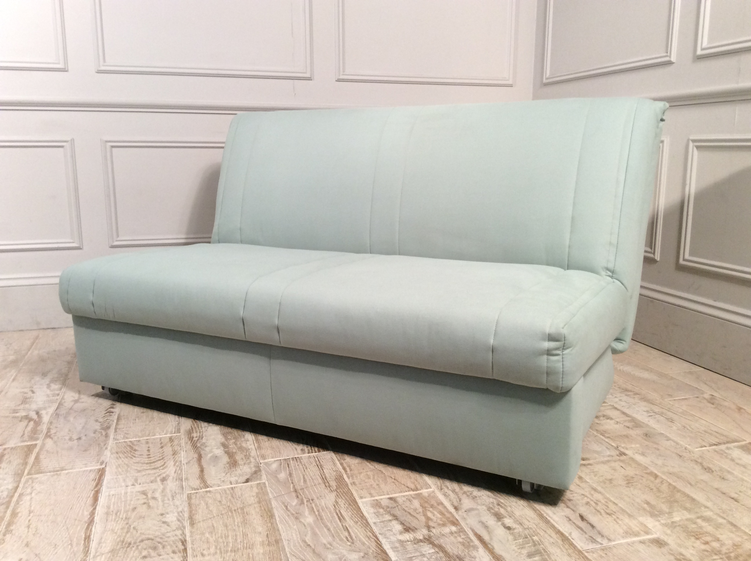 Launceston 3 Seater No Arms Sofa Bed in Mint