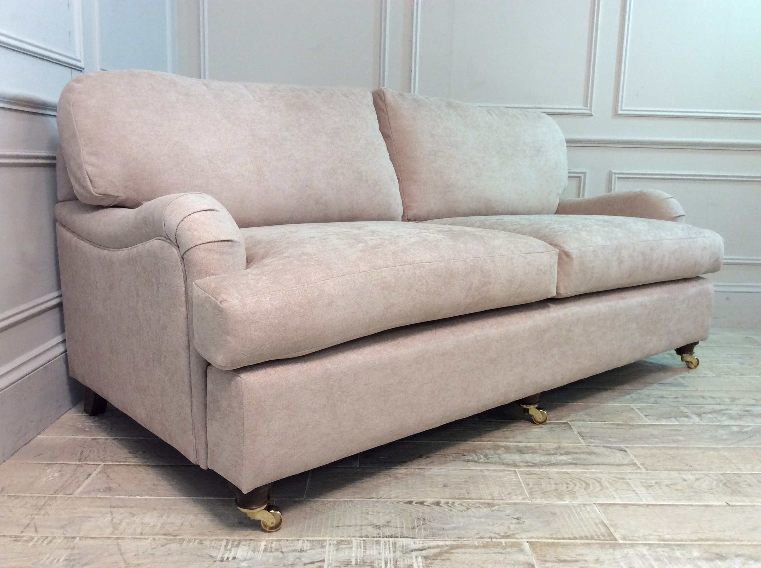 Product photograph showing Helston 3 5 Seater Sofa In Latte