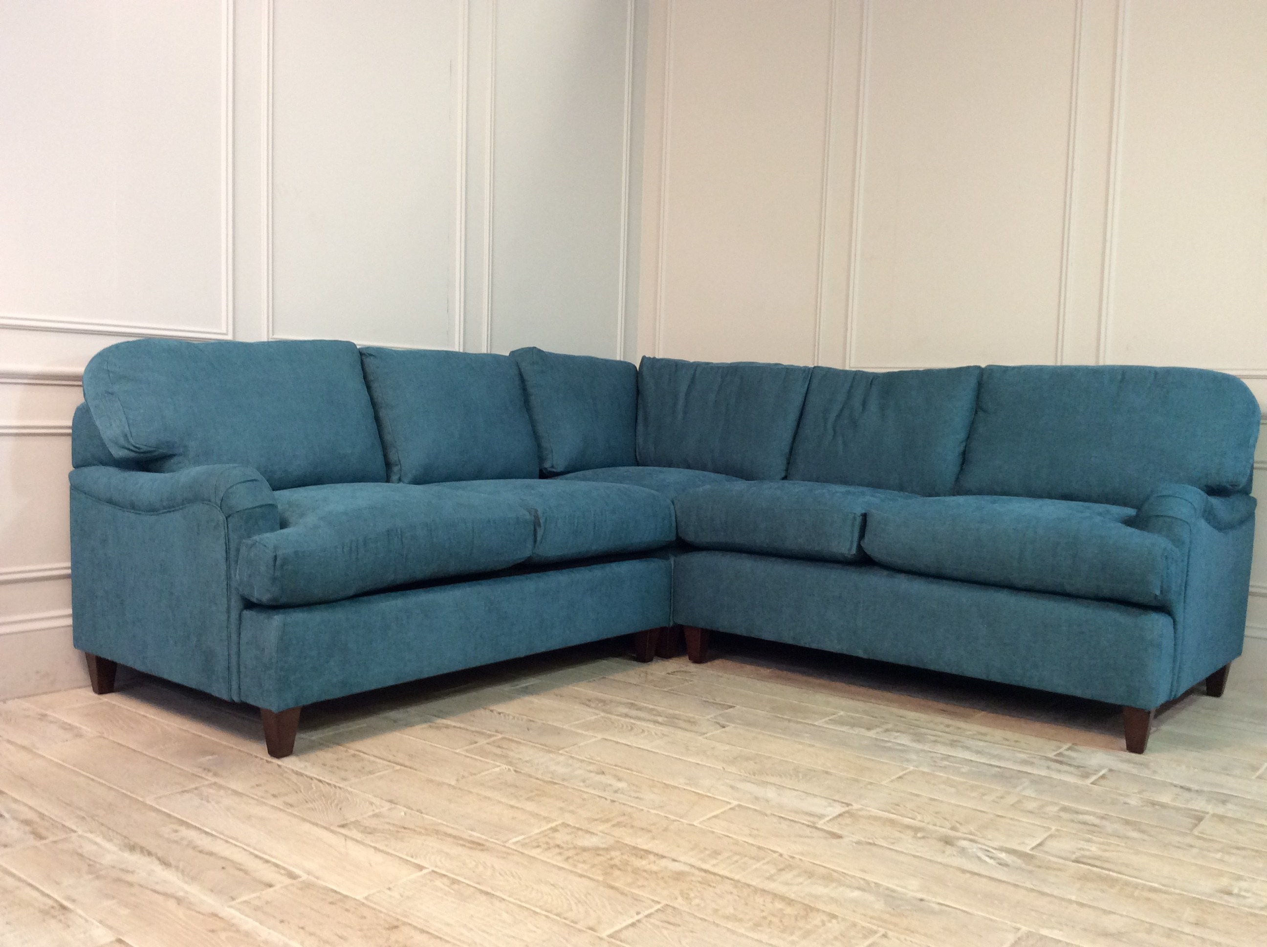 Product photograph showing Helston 2 X 2 Seater Corner Sofa Bed In Pacific