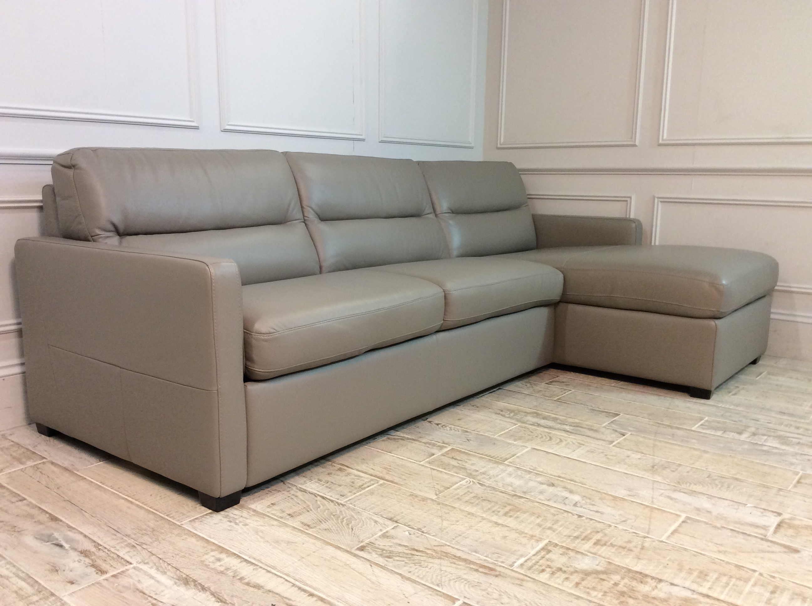 Product photograph showing Sicily 3 Seater Sofa Bed With Storage Chaise In 15c3