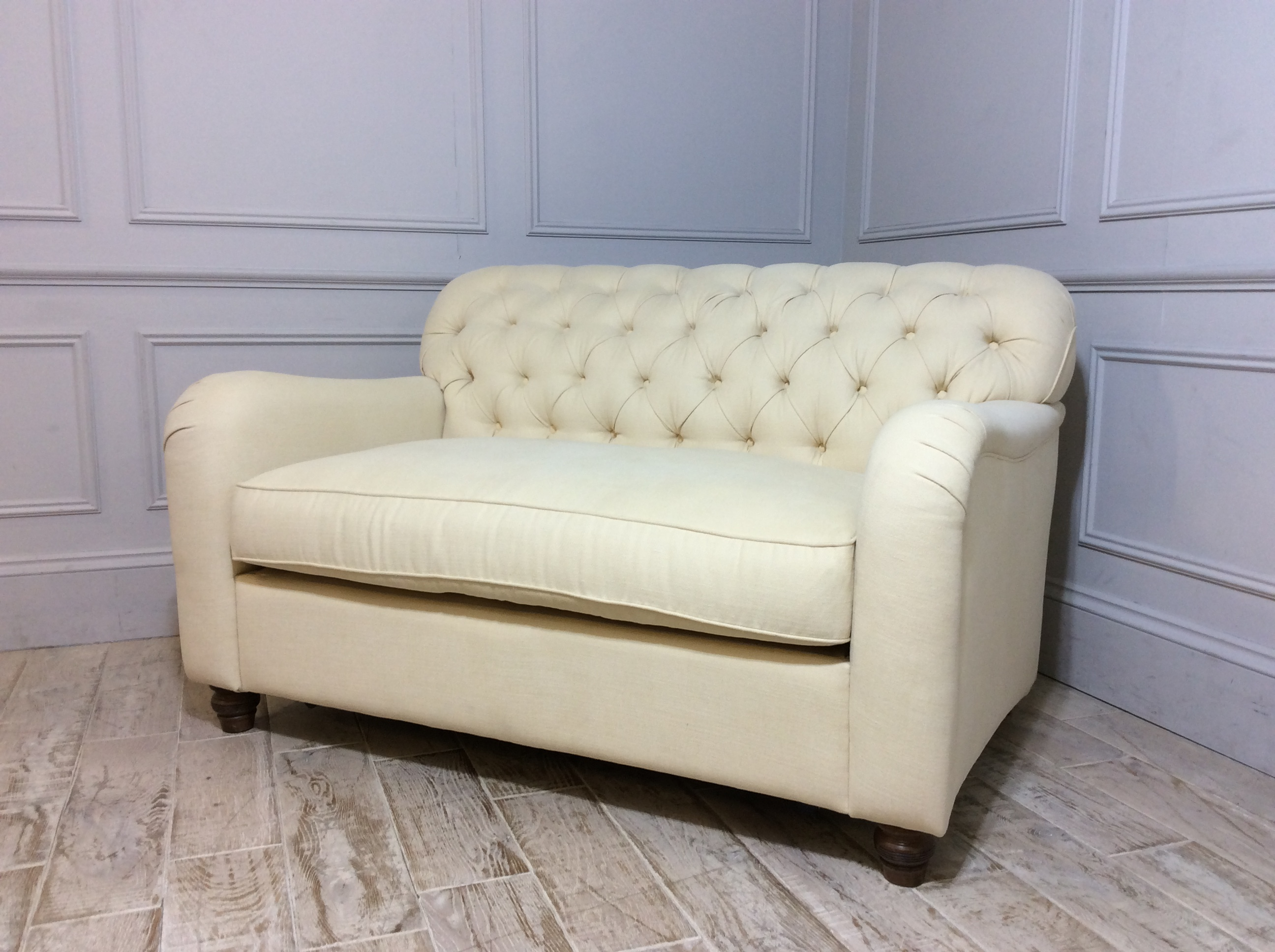 Bakewell Loveseat Fabric Sofa Bed in Buttermilk
