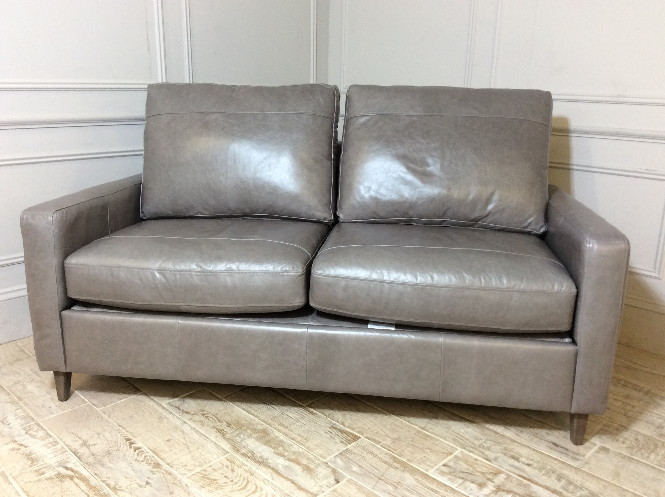 Beckenham 3 Seater Leather Sofa Bed in Slate