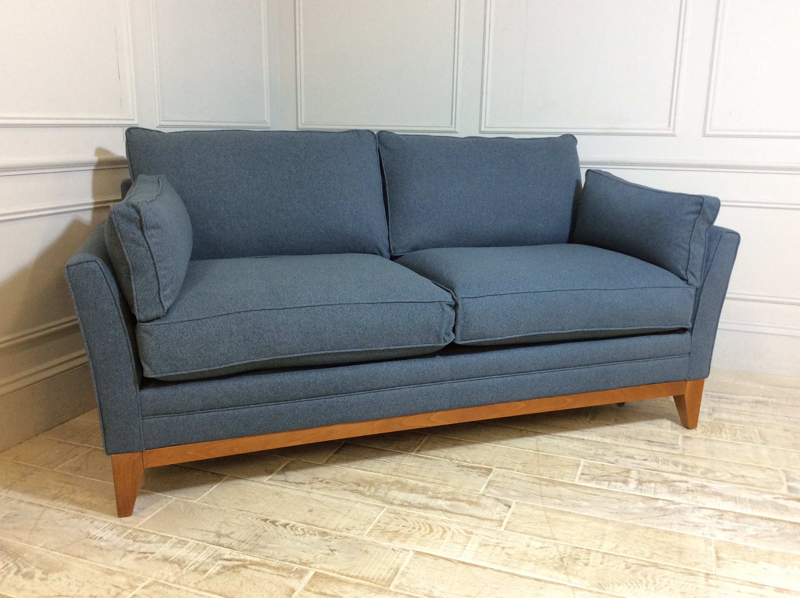 Product photograph showing Exmouth 3 Seater Fabric Sofa Bed In Spruce