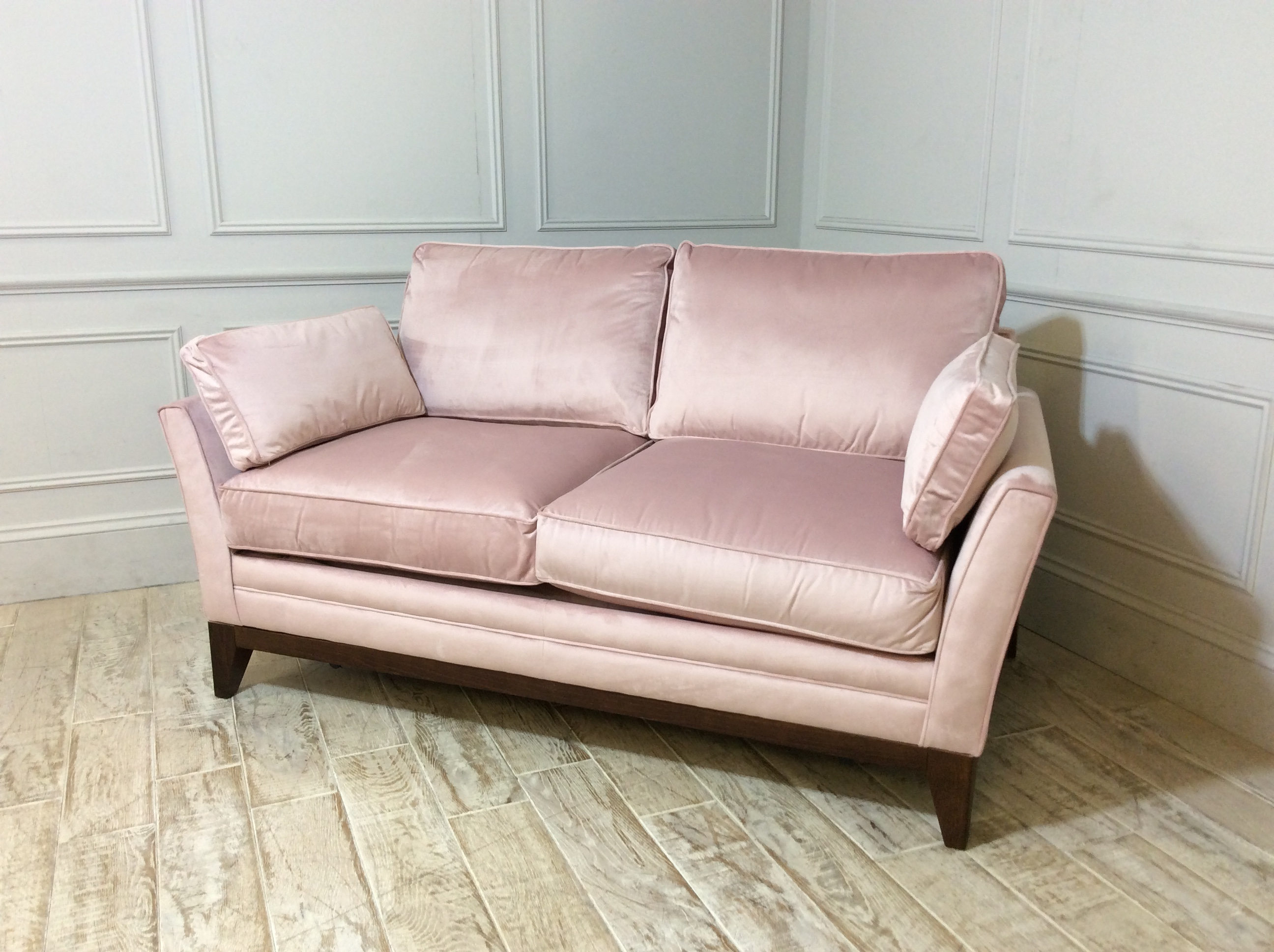 Exmouth 2 Seater Fabric Sofa Bed in Carnation Pink