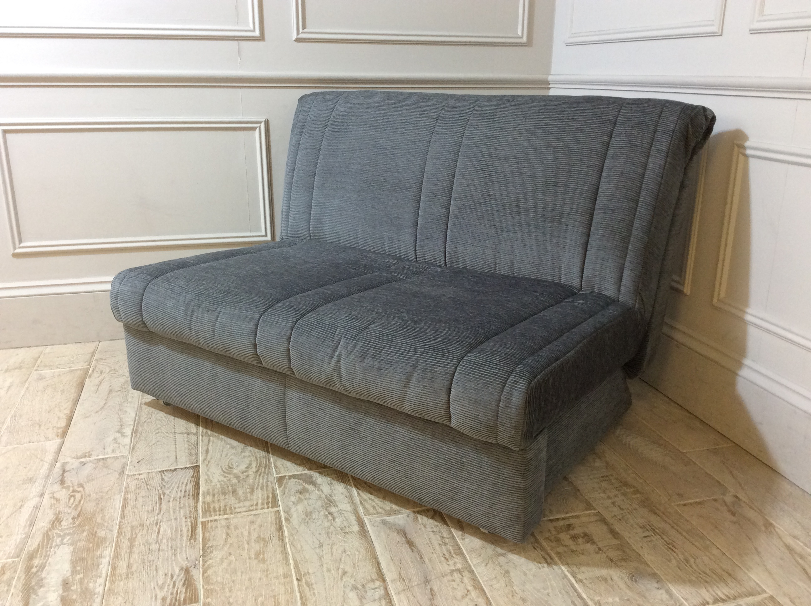 Launceston 2 Seater No Arms Sofa Bed in Falcon