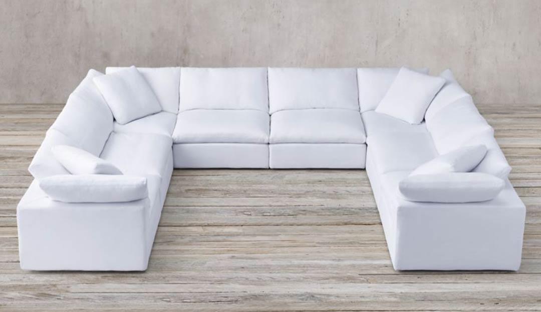Feather Extra Deep  U Shape Sofa