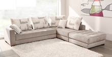 Morellia Modular 3x1 Seater Corner Sofa With Large Footstool
