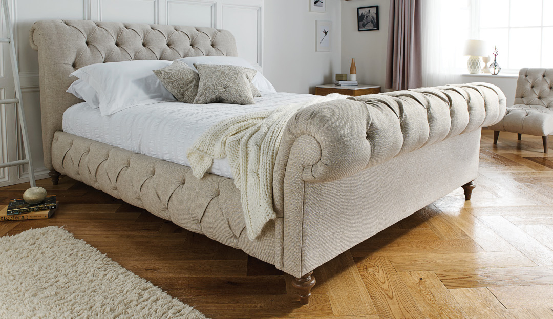Product photograph showing Headly King Bed High End