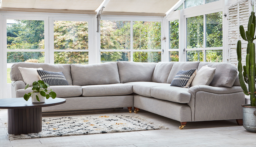 Product photograph showing Helston 2 X 2 Seater Corner Sofa
