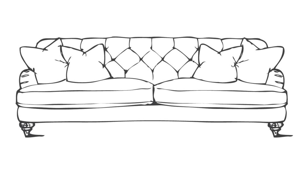 Product photograph showing Woodbridge Extra Large Sofa